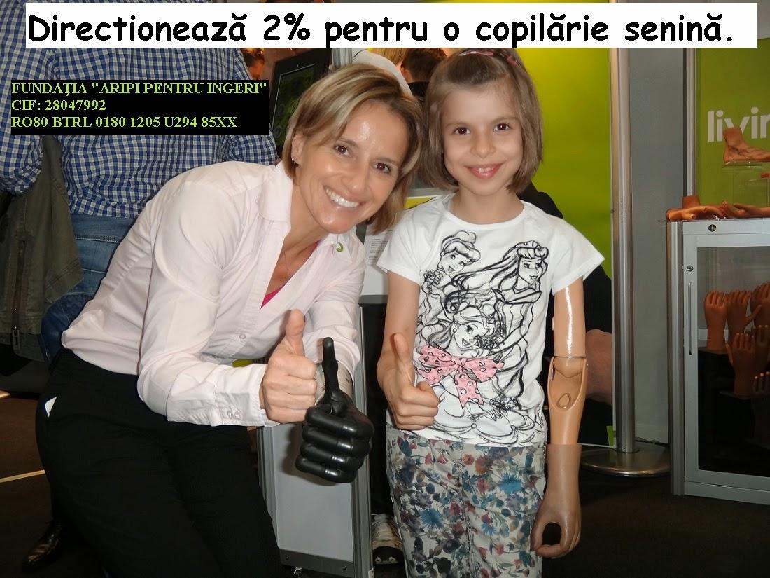 Directionează 2% pentru Alexandra, pentru o copilărie senină. Termen limită: 25.mai.2015