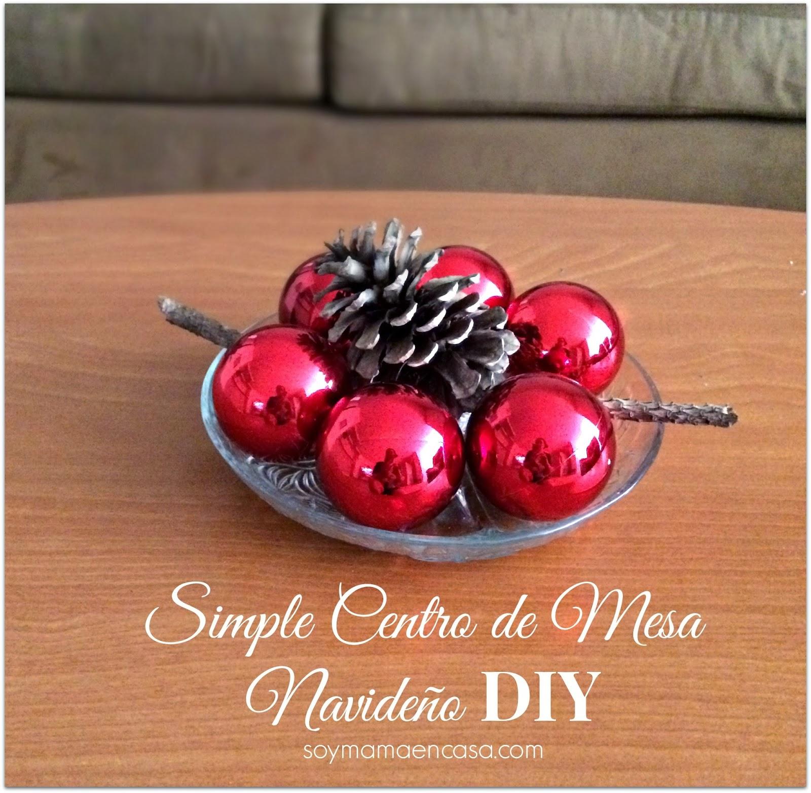 Centro de mesa navide o diy - Centros navidenos caseros ...
