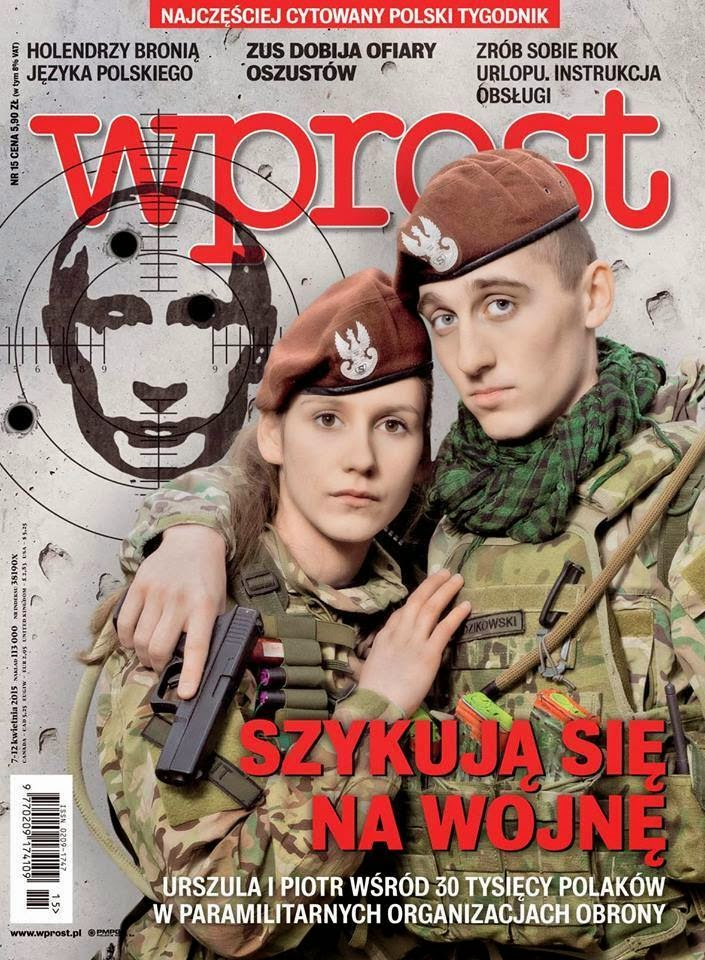 1st cover of the recent Wprost magazine (Poland), depicting Putin as a target.