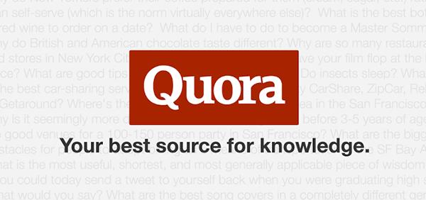 Quora..أفضل مكان لإيجاد أجوبة وافية لكل أسئلتك من طرف الخبراء والمحترفين