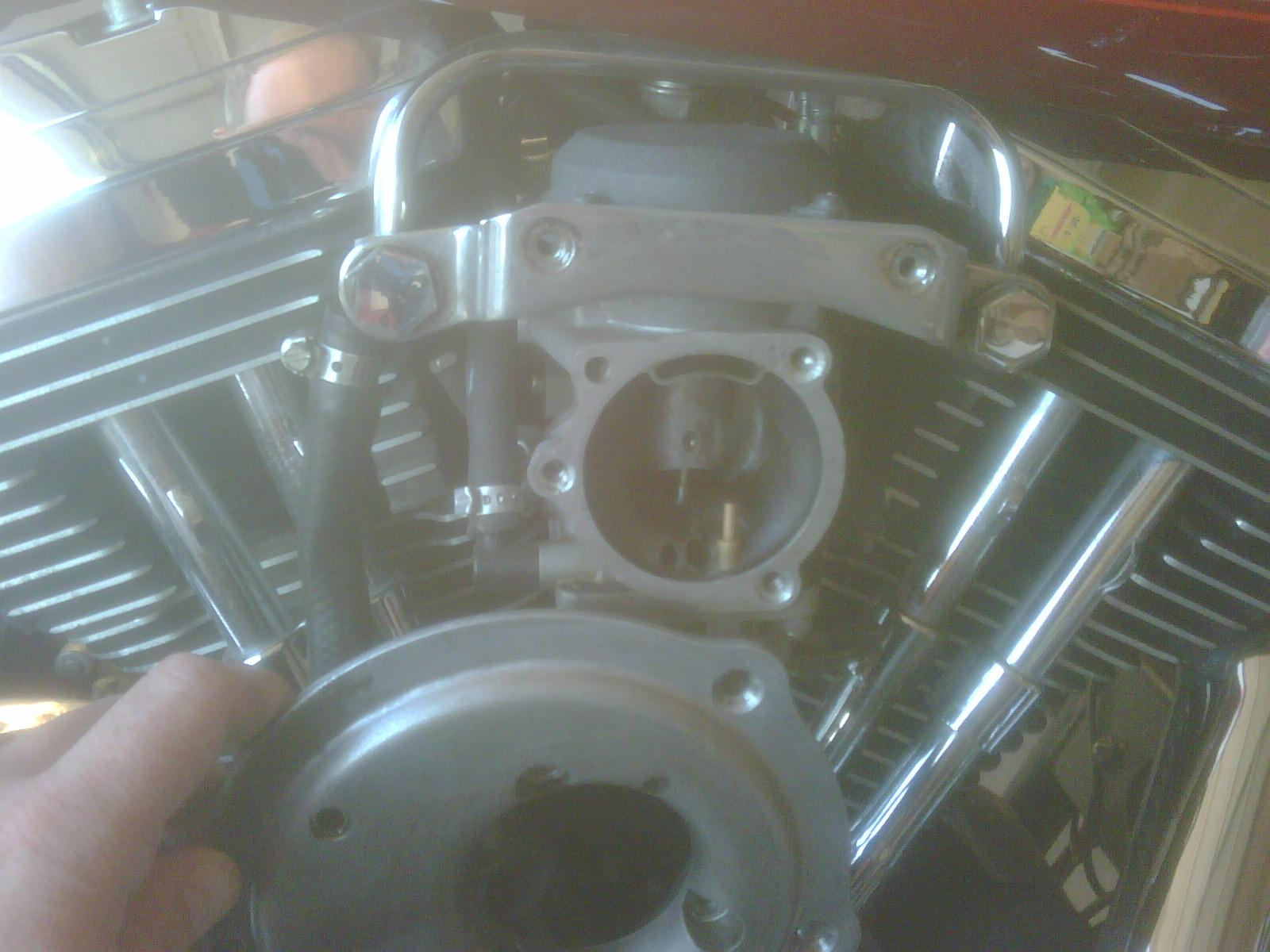 The Wandering Gypsy Removing A Harley Davidson Carburetor Step 1997 Sportster Carb Diagram Friday June 24 2011