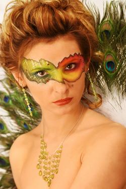 Fantasy Makeup - Celebrity Fashion Peacock Fantasy Makeup