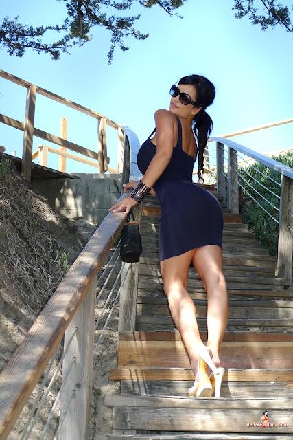 denise milani blue dress - photo #3