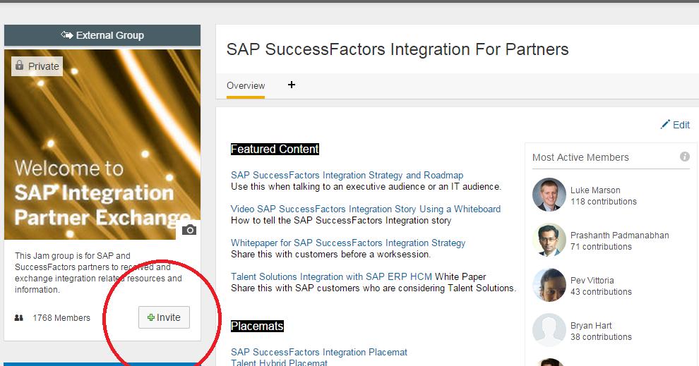 The Most Brilliant Feature In SAP Jam - The Invite Button