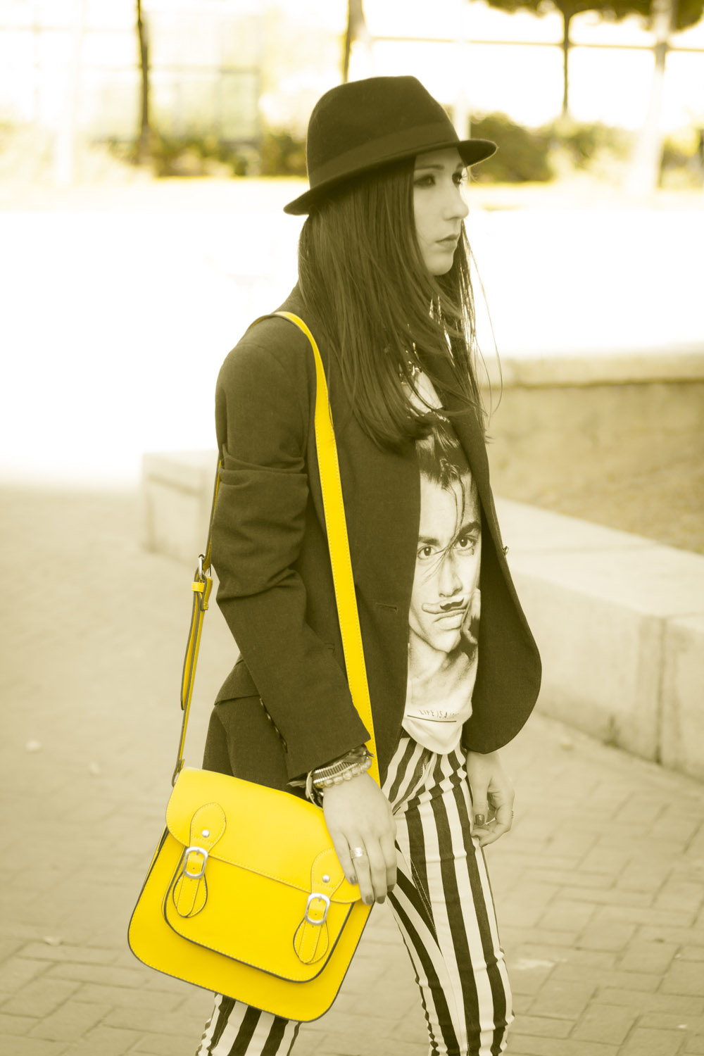 satchel bag amarillo fluor