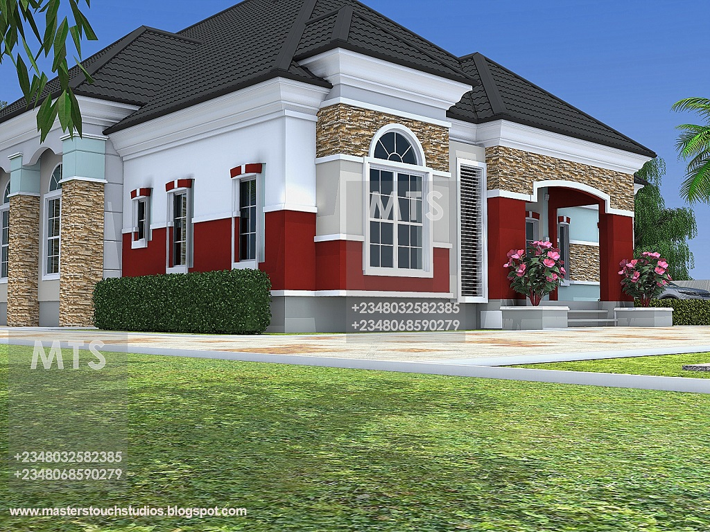 Mr chukwudi 5 bedroom bungalow modern and contemporary for 5 bedroom modern farmhouse plans