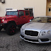 Peter Okoye shows off new 2014 Bentley GT & 2014 Wrangler