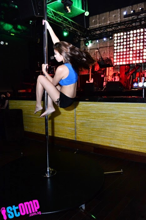 Customers were treated to a pole dancing performance