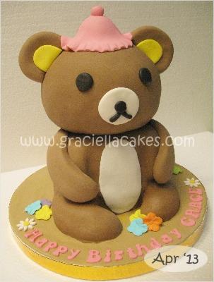 Rilakkuma 3D Birthday Cake