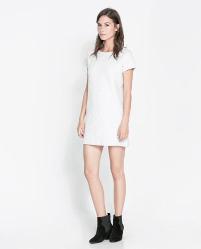 beyaz kısa elbise