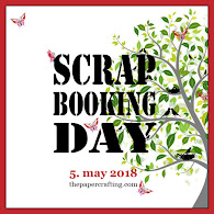 "Scrapbooking Day 2018 - Skandinavisk Cyber Crop Event i FB gruppen ""The Paper Events""."