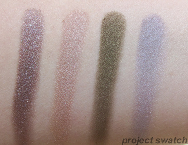 Addiction swatches - Flash Back , Sandbar, Safari Mode, Concrete Jungle,