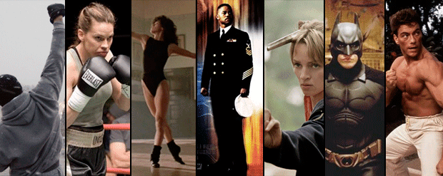 7 FILMES que te DÃO VONTADE de FAZER EXERCÍCIO