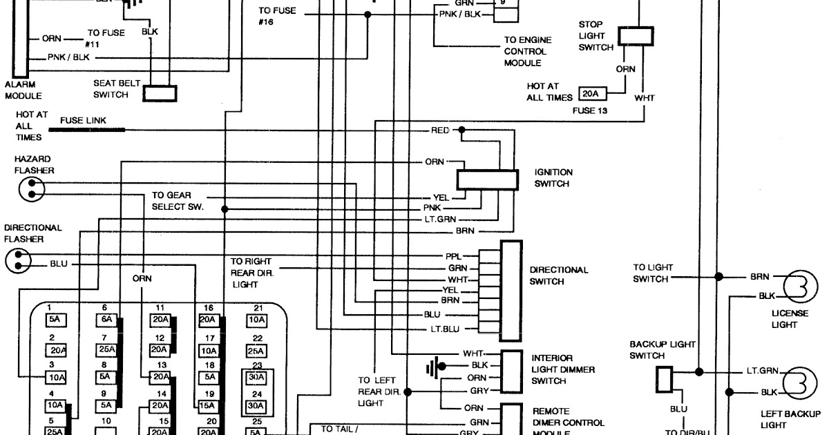 1989 Buick Lesabre Wiring Schematic