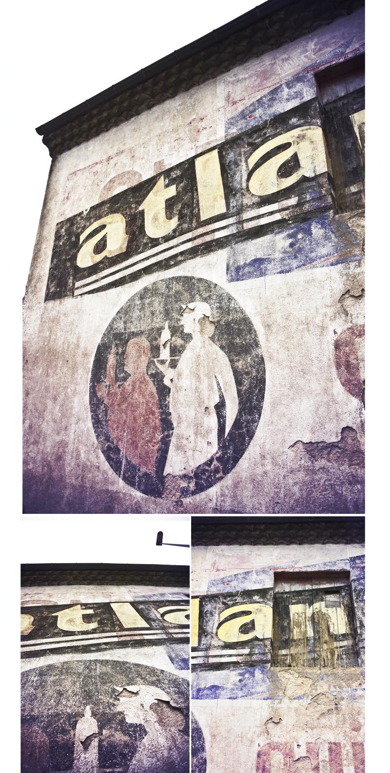 publicité sur mur peint atlantic