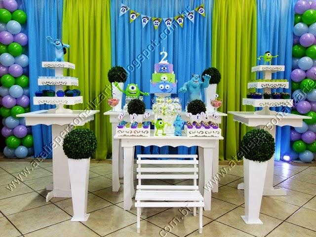 Decoração de festa infantil Universidade Monstros SA