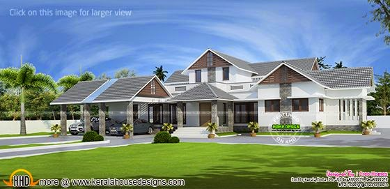 Large single floor house plan
