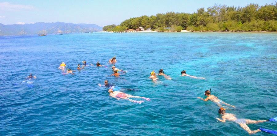 Snorkeling di Gili Trawangan 5 jam termasuk spin, masker dan makan siang