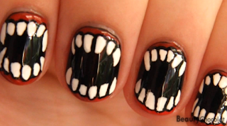Halloween 2013 Nail Design, Part 1