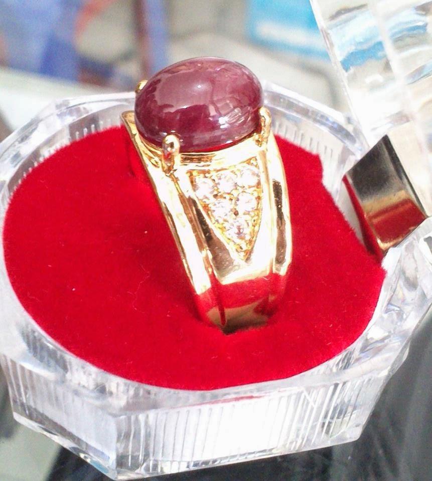 Batu Natural Ruby Pigeon Blood Kristal