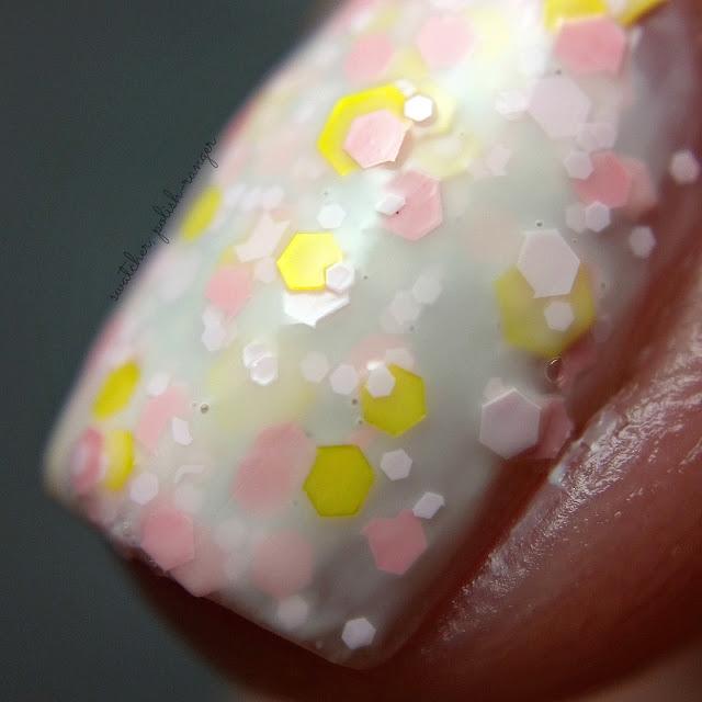 swatcher, polish-ranger   Pretty & Polished Strawberry Lemon Ice macro