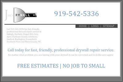 Sheetrock Repair Chapel Hill- Free estimates for quality Sheetrock repair in Chapel Hill.