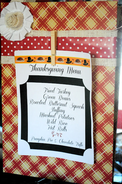 Thanksgiving Display Board, from Serenity Now