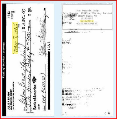 Cancelled Check to Palm Coast Landing Senior Apartments