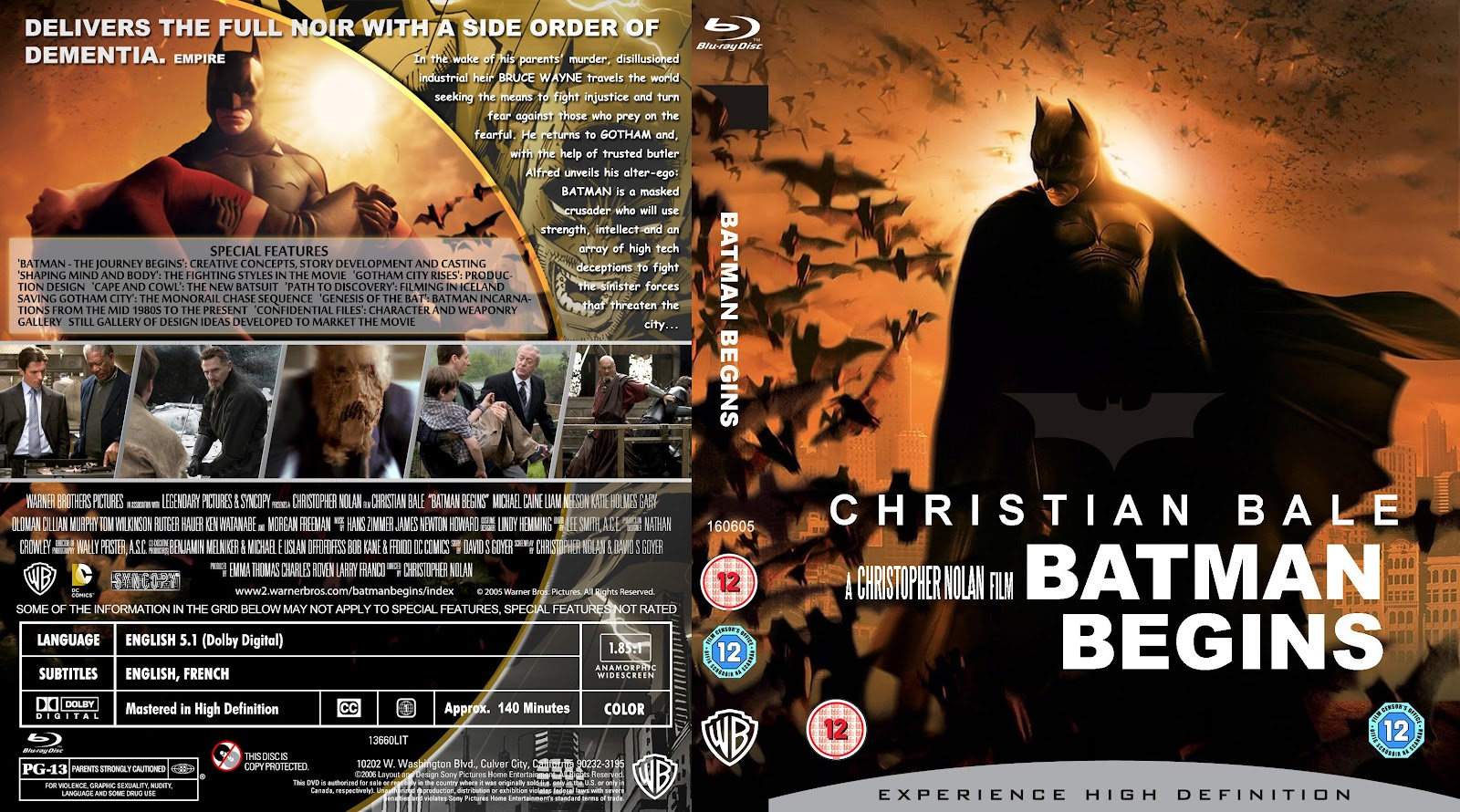 Capa Bluray Batman Begins