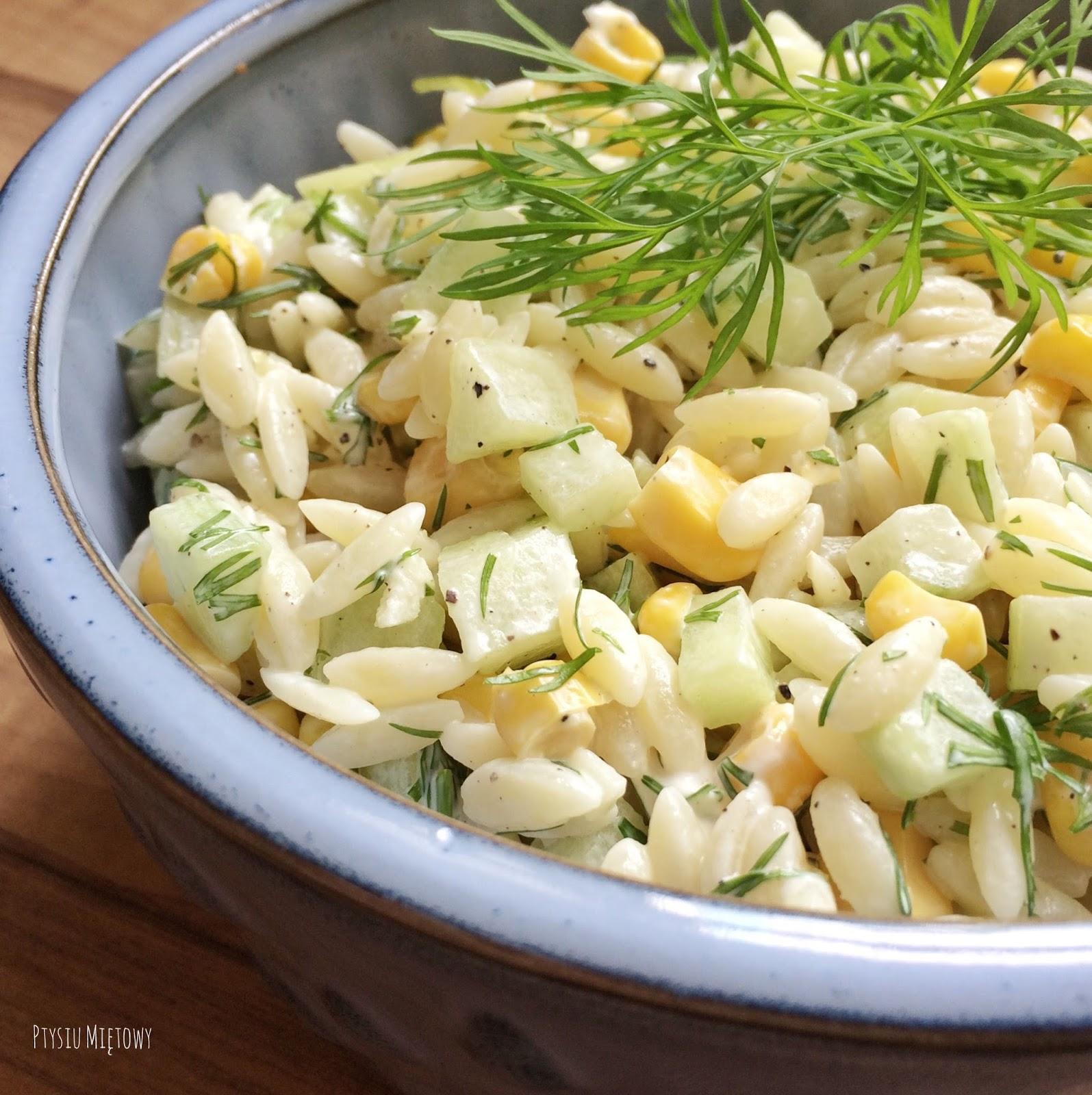 salatka, ptysiu mietowy