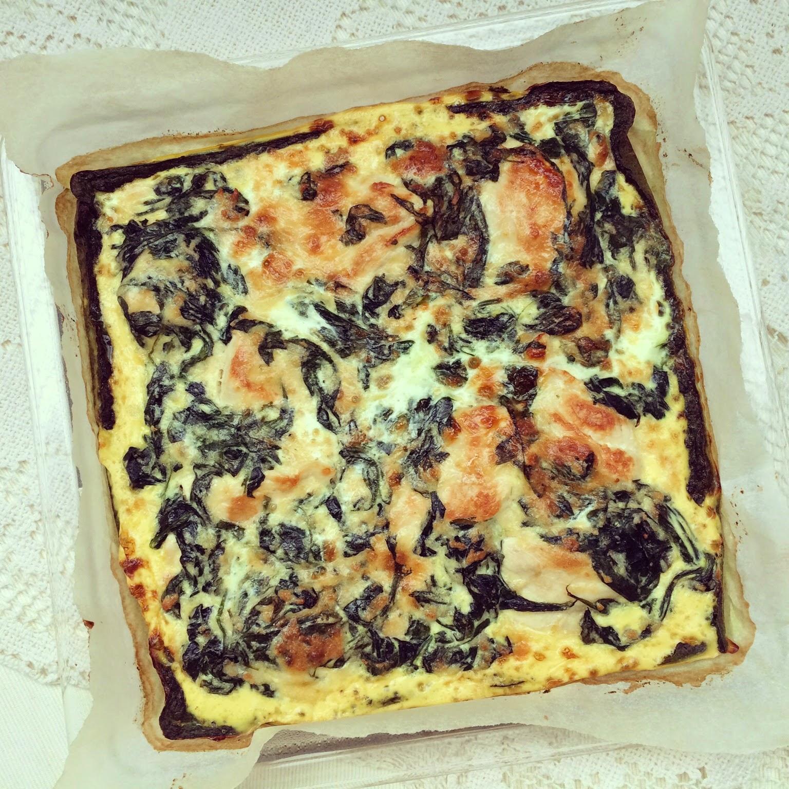 tarte poulet épinards parmesan