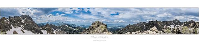 Widok z Kościelca - Panorama Orlej Perci