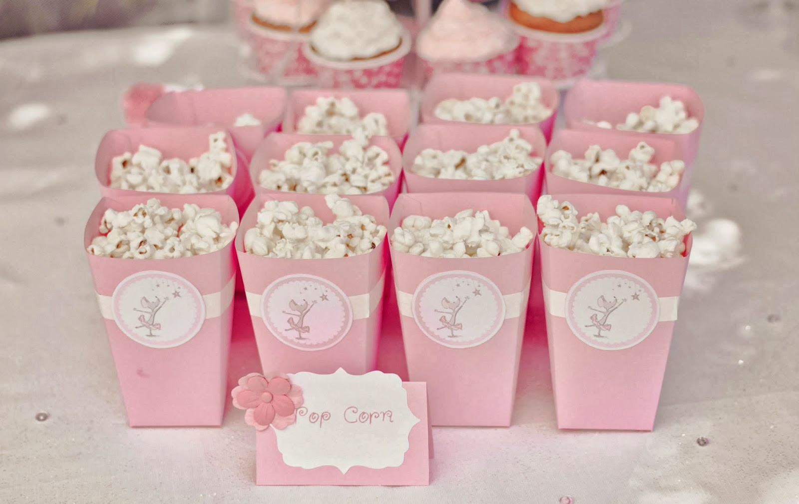 mini pots à pop corn