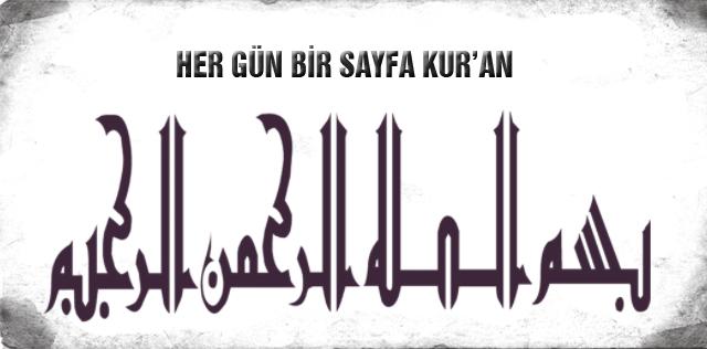 HER GÜN BİR SAYFA KUR'AN