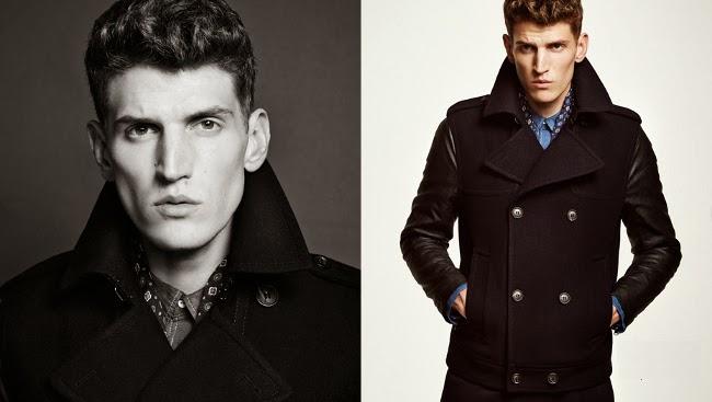 chaqueta combinada de doble botonadura en H&M