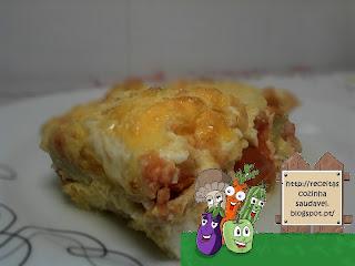 Frittata de Gambas, Courgette e Tomate