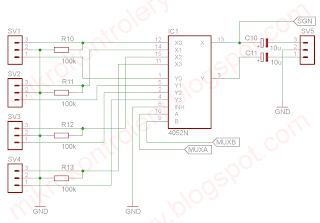 Automatyczny przełącznik audio - układ multipleksera