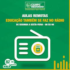 PROGRAMA RÁDIO ESCOLA - AULAS REMOTAS.