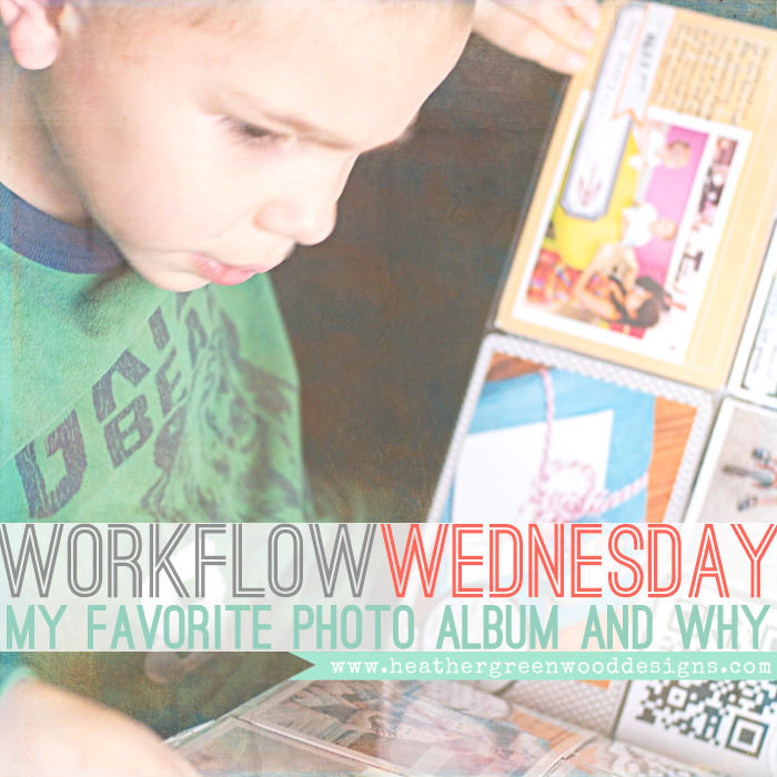 Heather Greenwood Designs | sharing my favorite photo album and why I love the We R Memory Keepers Leather Albums