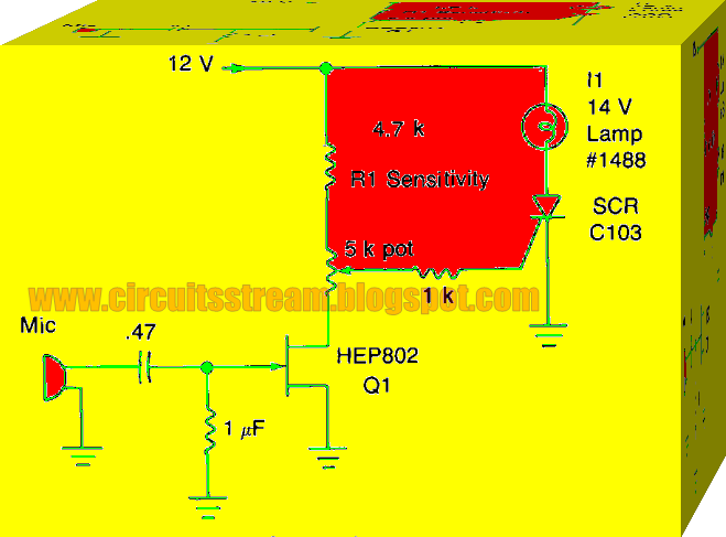 top class sound activated switch circuit diagram