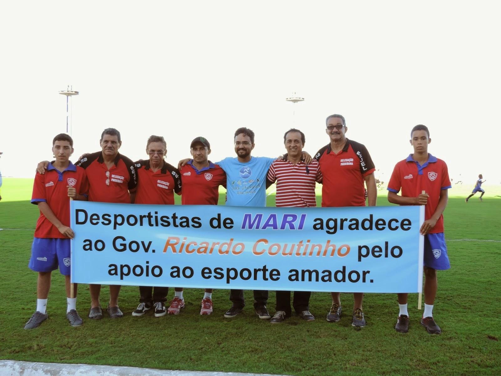 Escolinha do Mescias participa da abertura da Copa Paraíba de Futebol Sub-15 com o apoio da Prefeit