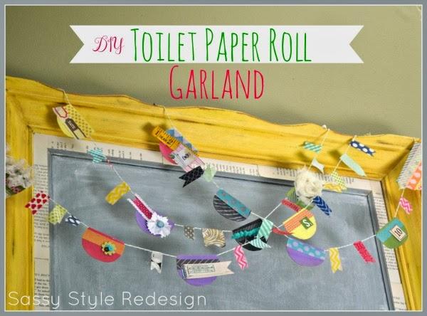 Springtime Toilet Paper Roll Garland