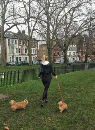 correndo com cachorro