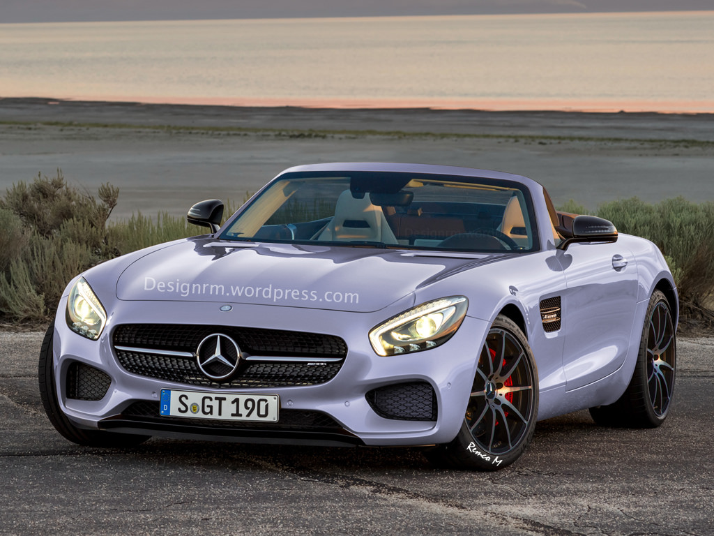 new mercedes amg gt gets a roadster rendition. Black Bedroom Furniture Sets. Home Design Ideas