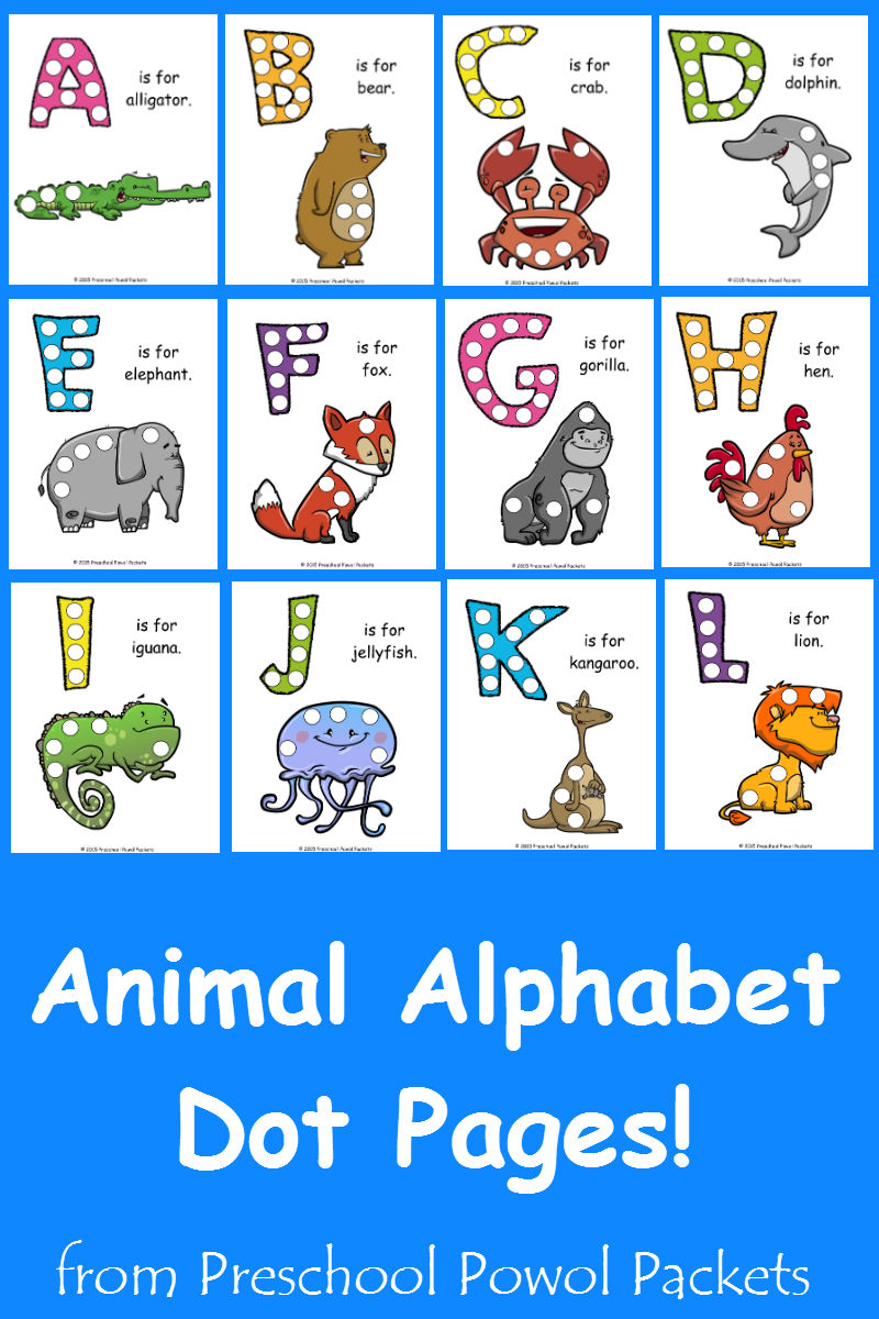 free letter d animal alphabet dots printable preschool powol packets