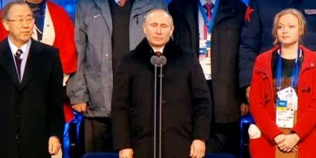 Президент России Владимир Путин открыл XXII Зимнюю Олимпиаду в Сочи 2014. Автор