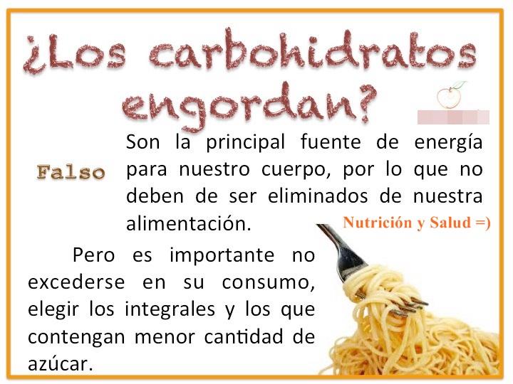 Nutrici n y salud los carbohidratos engordan - Que alimentos contienen carbohidratos ...