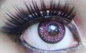 sparkling pink lens
