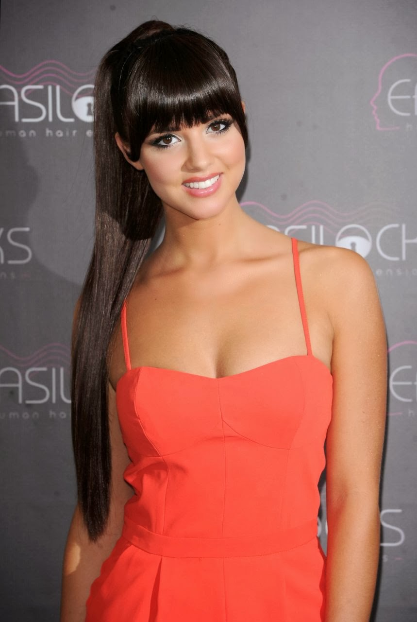 Lucy Mecklenburgh in Red at Easilocks Photocall