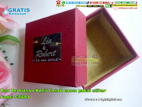Box Perhiasan Kecil Cetak Nama Pakai Stiker